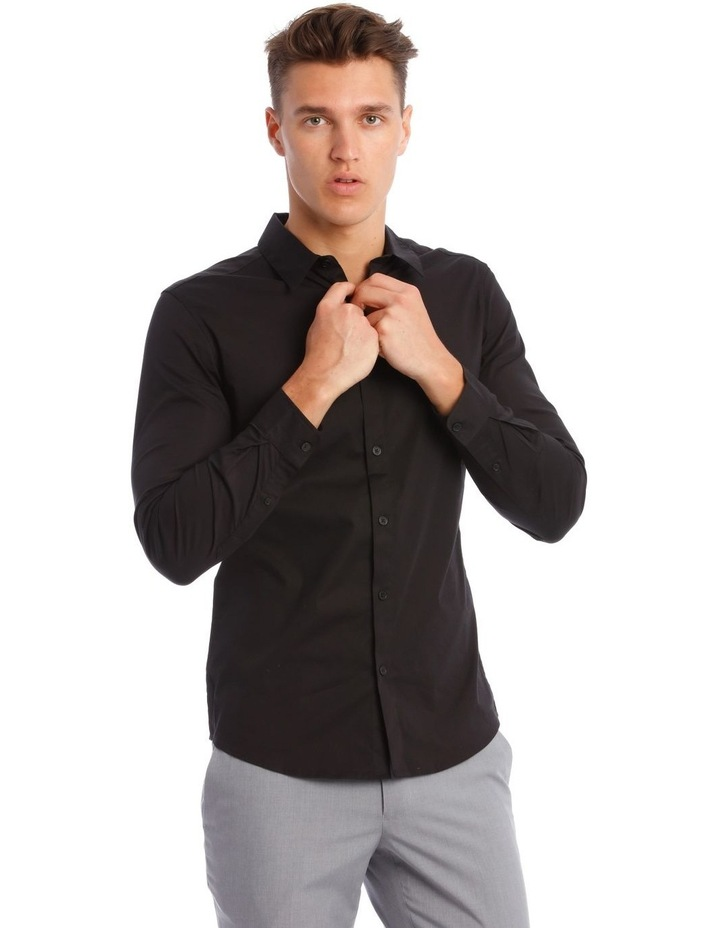 Prince Long-Sleeve Shirt In Black image 1