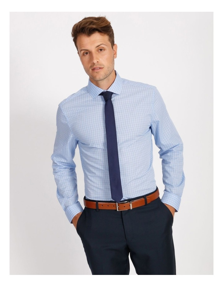 Tailored Sky Blue Fine Check Shirt image 1