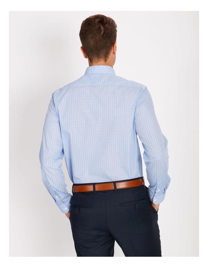 Tailored Sky Blue Fine Check Shirt image 3