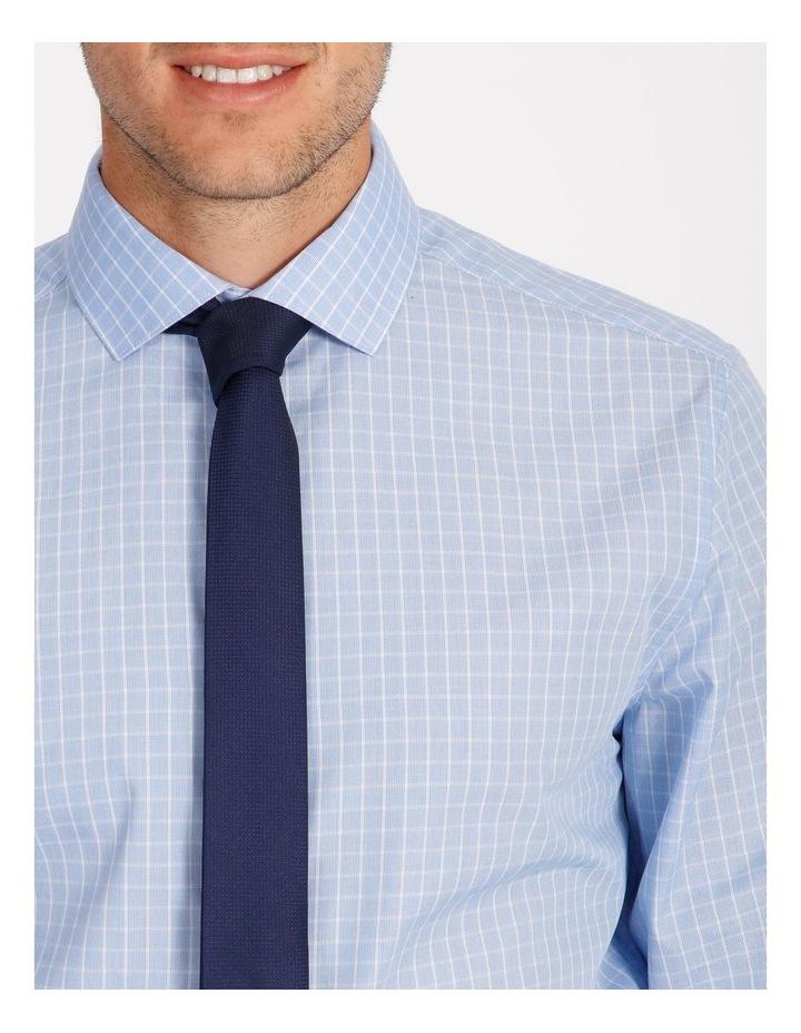 Tailored Sky Blue Fine Check Shirt image 4