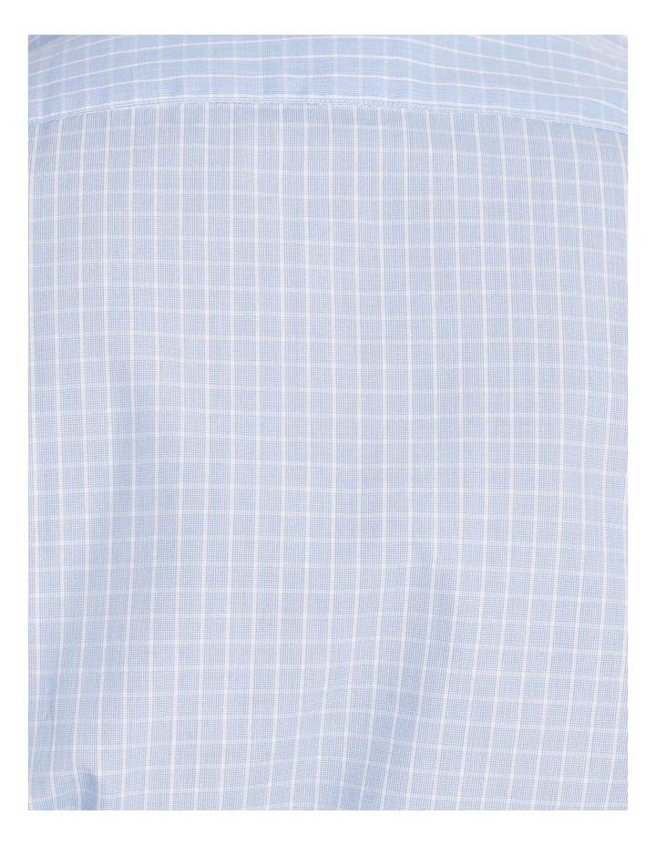 Tailored Sky Blue Fine Check Shirt image 5