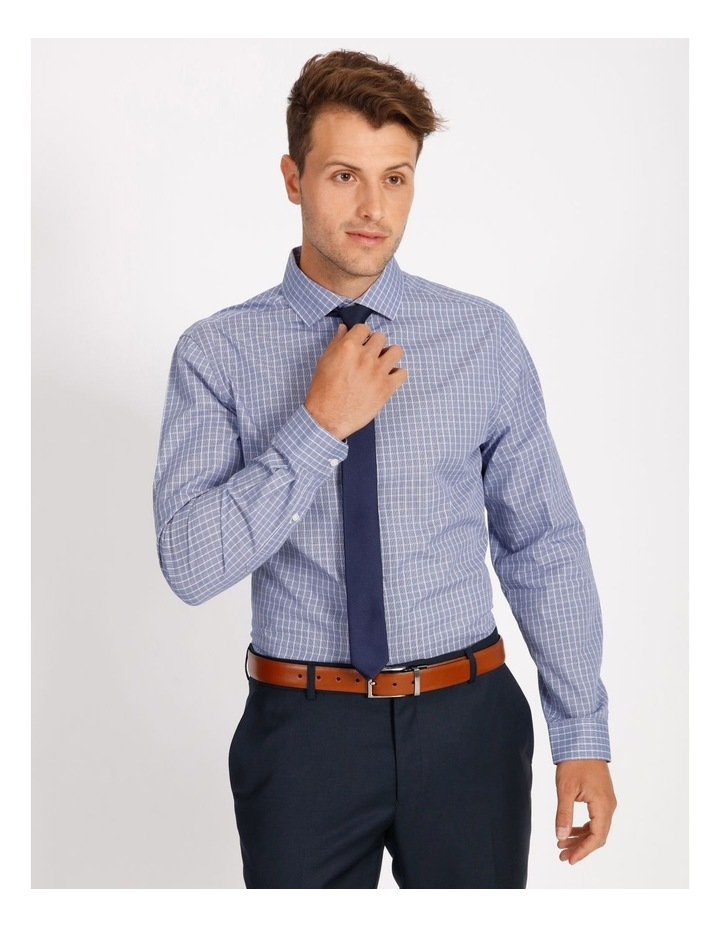 Tailored Blue Fine Check Shirt image 1