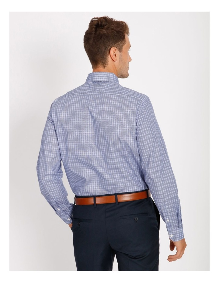 Tailored Blue Fine Check Shirt image 3