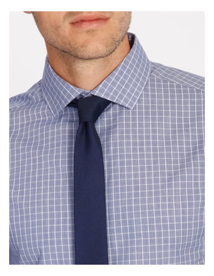 Tailored Blue Fine Check Shirt image 4