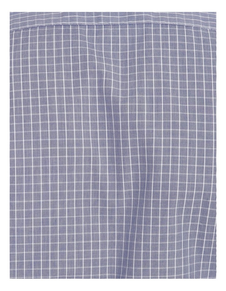 Tailored Blue Fine Check Shirt image 5