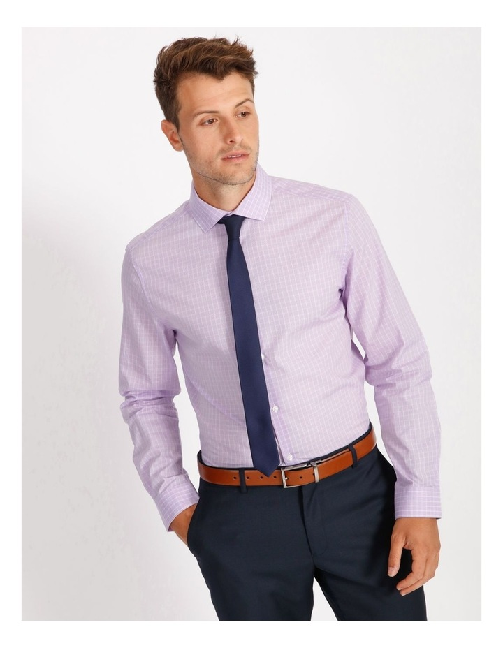 Tailored Violet Fine Check Shirt image 1