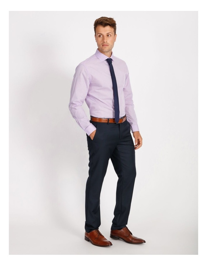 Tailored Violet Fine Check Shirt image 2