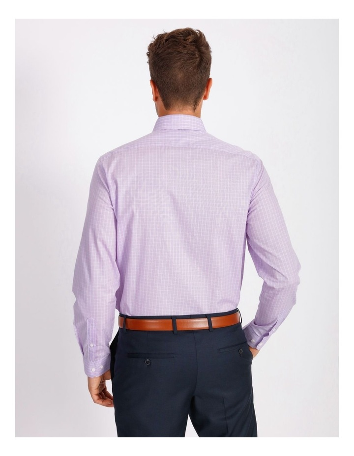 Tailored Violet Fine Check Shirt image 3