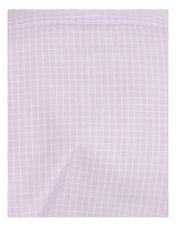 Tailored Violet Fine Check Shirt image 5