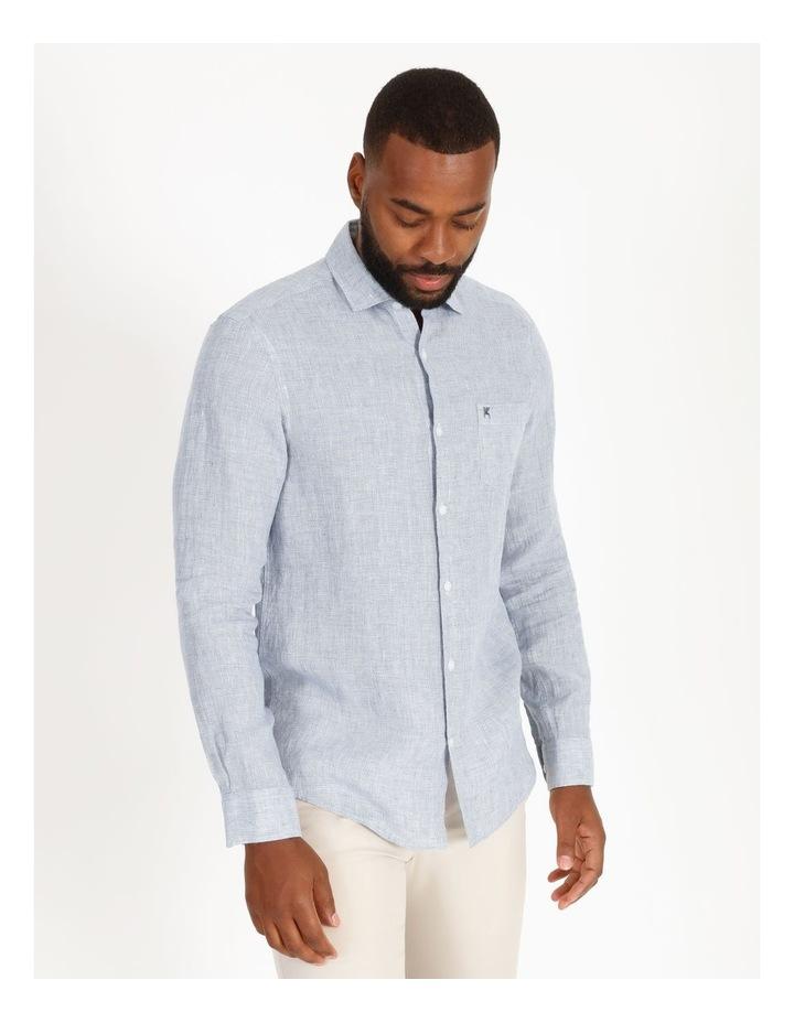 Gad Long-Sleeve Textured Linen Shirt image 1