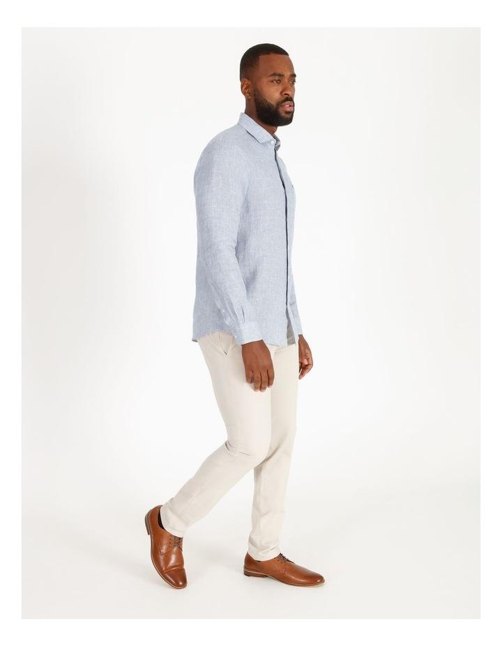 Gad Long-Sleeve Textured Linen Shirt image 2