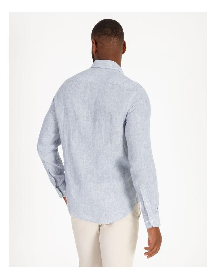 Gad Long-Sleeve Textured Linen Shirt image 3