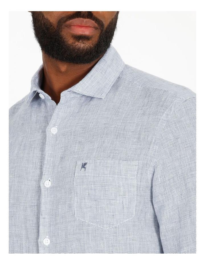 Gad Long-Sleeve Textured Linen Shirt image 4