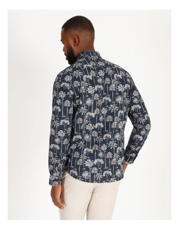 Moroccan Long-Sleeve Night Palm Print Shirt image 3