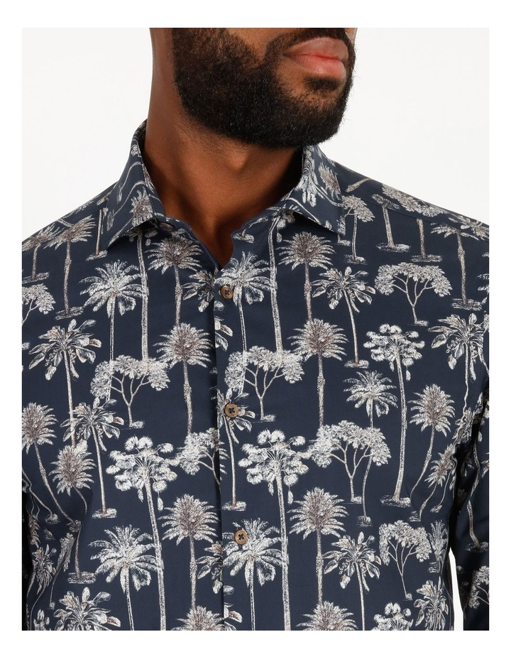 Moroccan Long-Sleeve Night Palm Print Shirt image 4