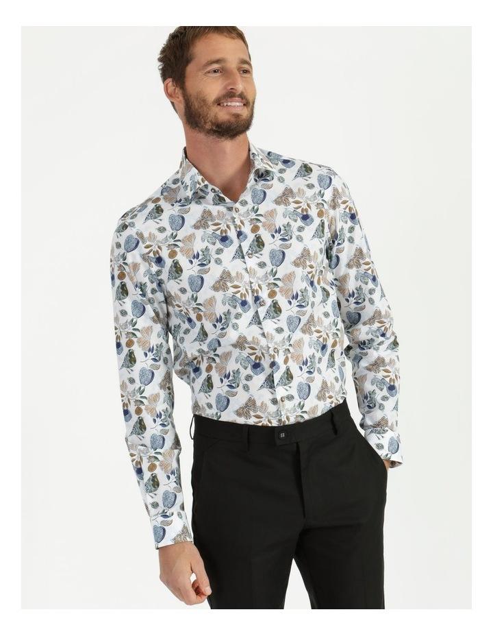 Tremblay Bird Print Long Sleeve Shirt White image 2