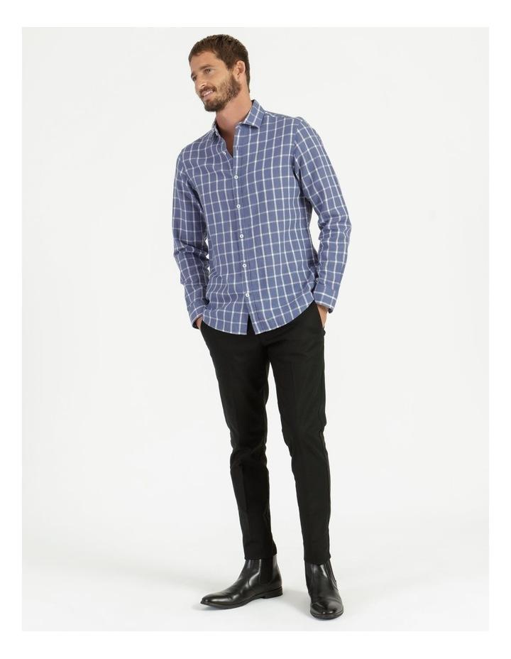 Morton Linen Check Long Sleeve Shirt Blue image 3