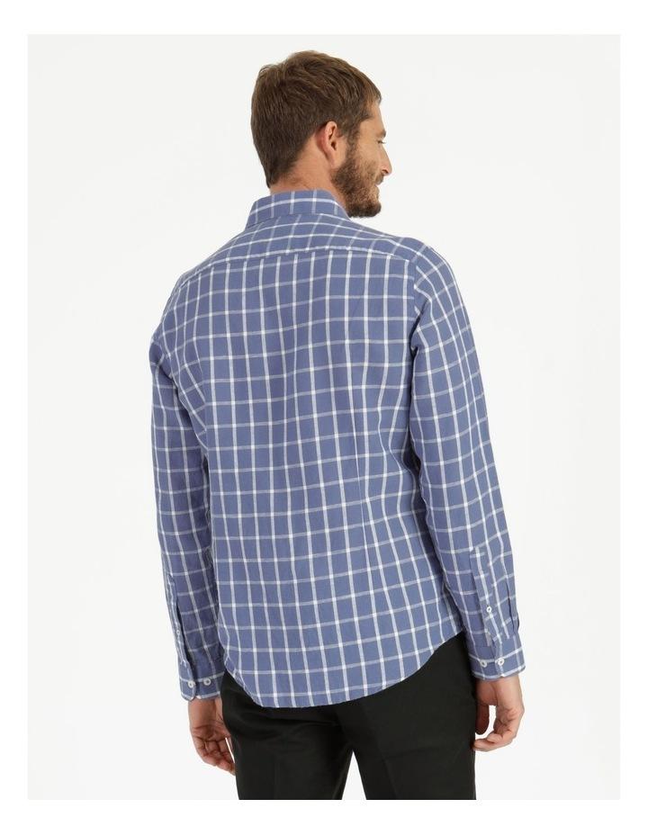 Morton Linen Check Long Sleeve Shirt Blue image 4