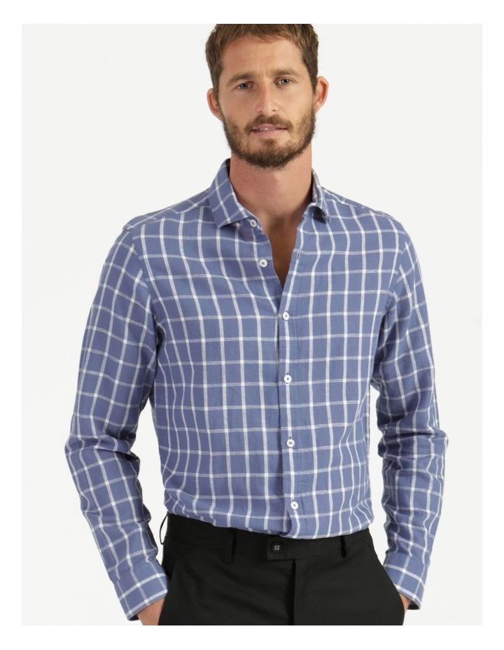 Morton Linen Check Long Sleeve Shirt Blue image 5