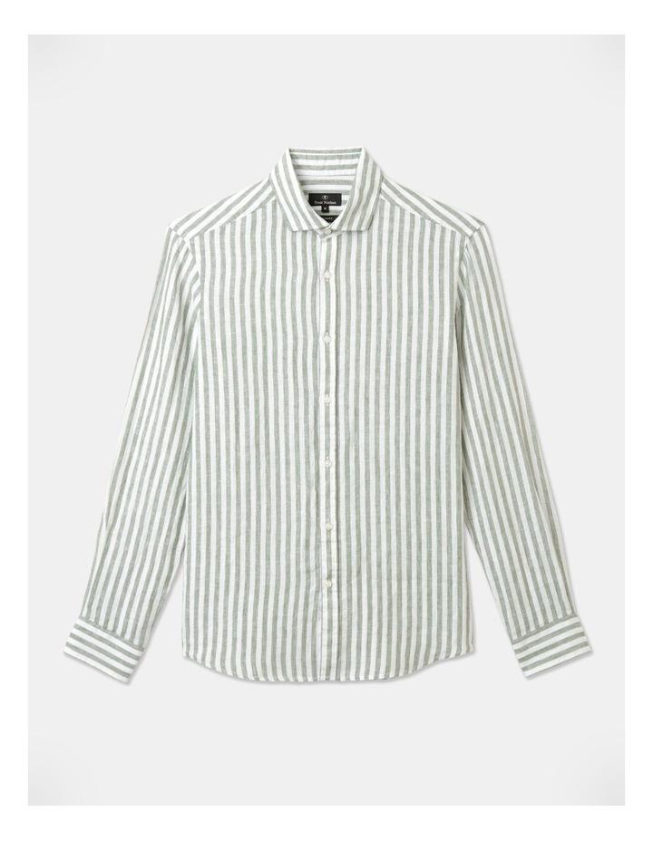 Cranston Stripe Long Sleeve Shirt Green image 1