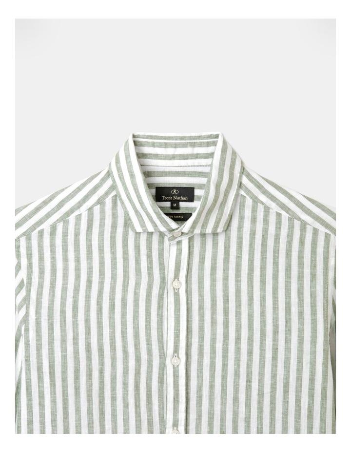 Cranston Stripe Long Sleeve Shirt Green image 2