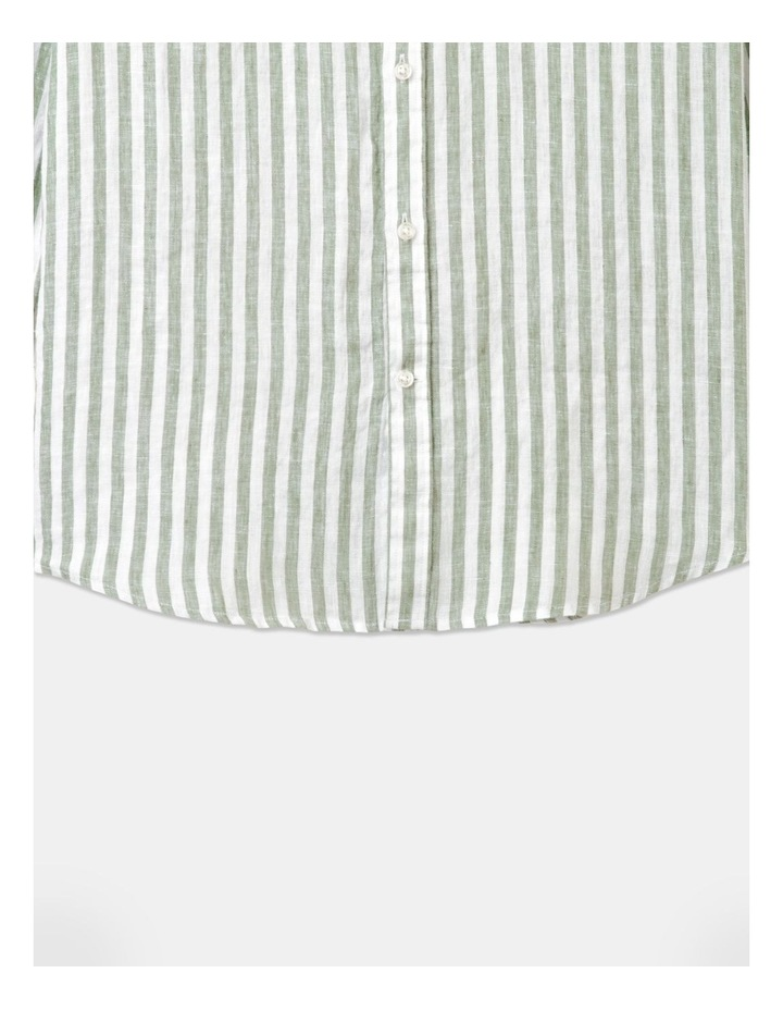 Cranston Stripe Long Sleeve Shirt Green image 3