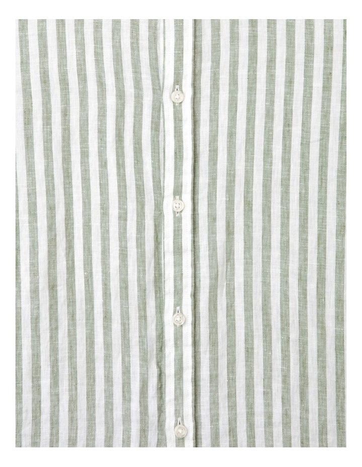 Cranston Stripe Long Sleeve Shirt Green image 4