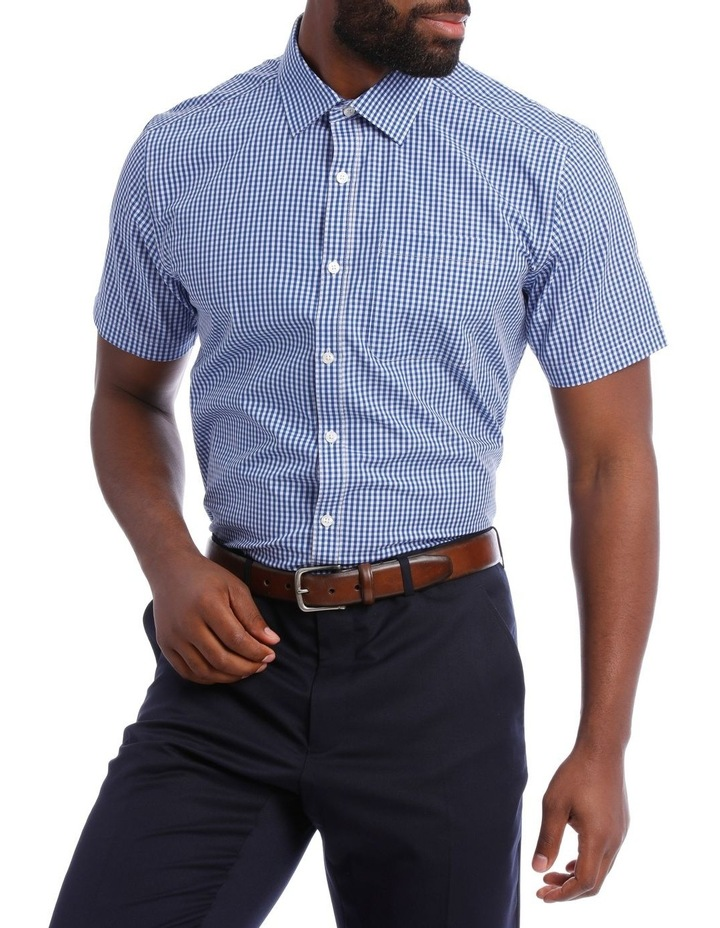 Navy and White Gingham Classic Fit image 1