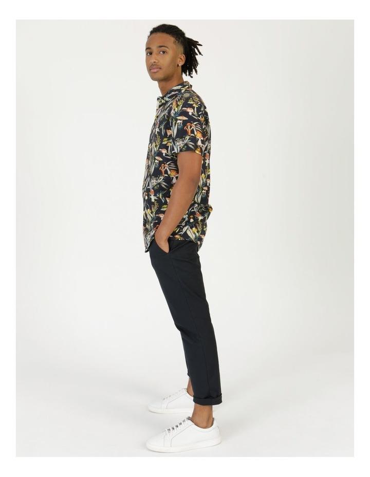 Mushroom Forager Print Short Sleeve Formal Rayon Shirt image 1
