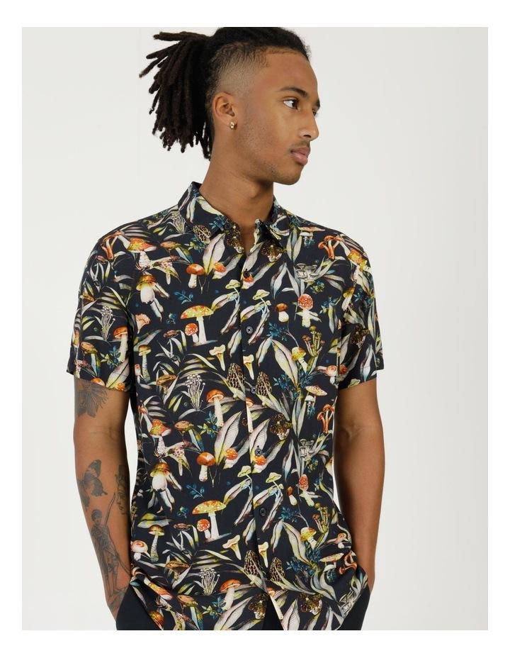 Mushroom Forager Print Short Sleeve Formal Rayon Shirt image 2