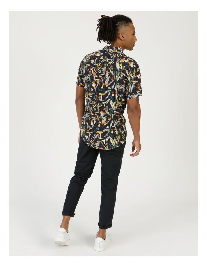 Mushroom Forager Print Short Sleeve Formal Rayon Shirt image 5