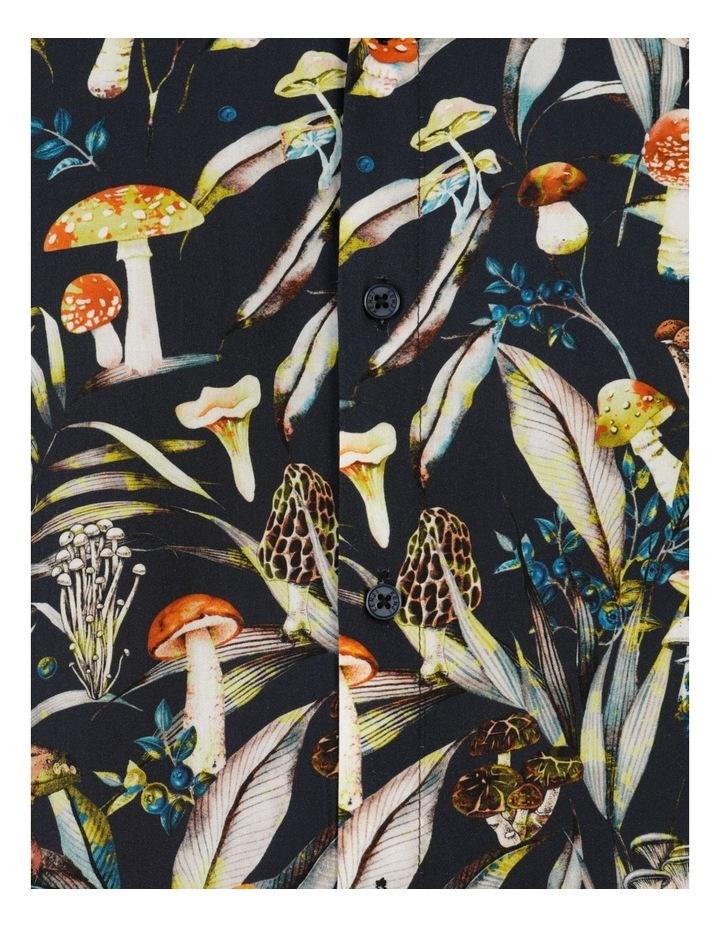 Mushroom Forager Print Short Sleeve Formal Rayon Shirt image 7