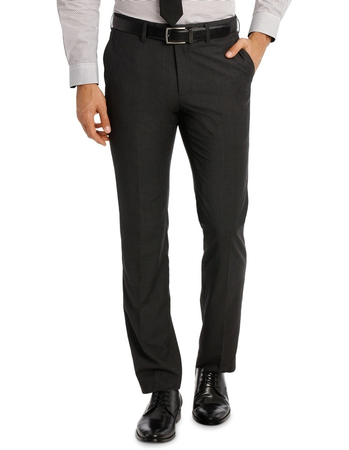 Slim Fit Trouser Charcoal Prince of Wales image 1