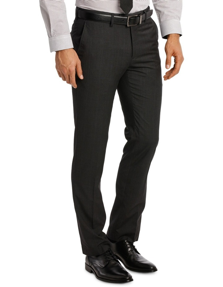Slim Fit Trouser Charcoal Prince of Wales image 2