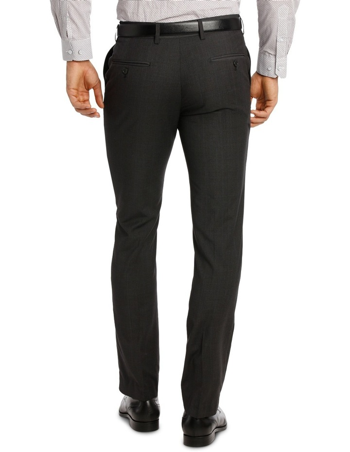 Slim Fit Trouser Charcoal Prince of Wales image 3