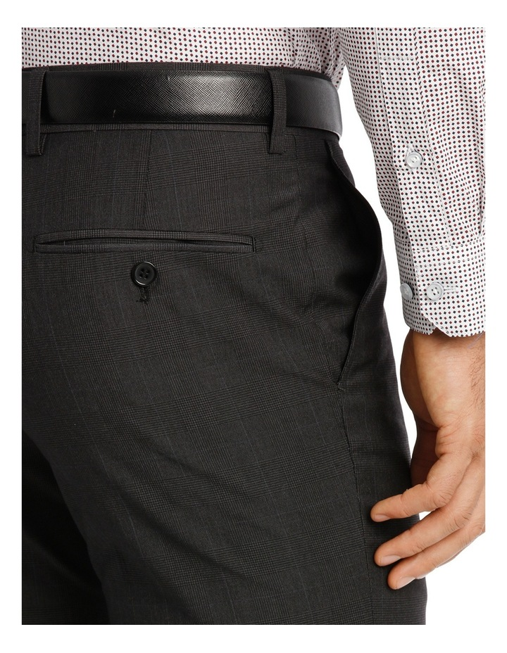 Slim Fit Trouser Charcoal Prince of Wales image 4