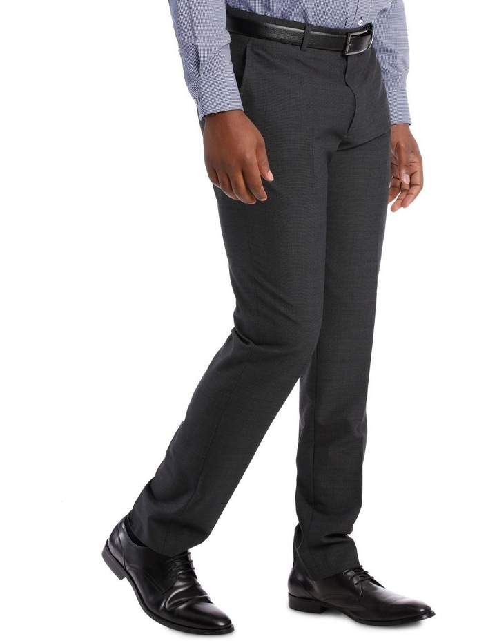 Tailored Fit Charcoal Fine Stripe image 2