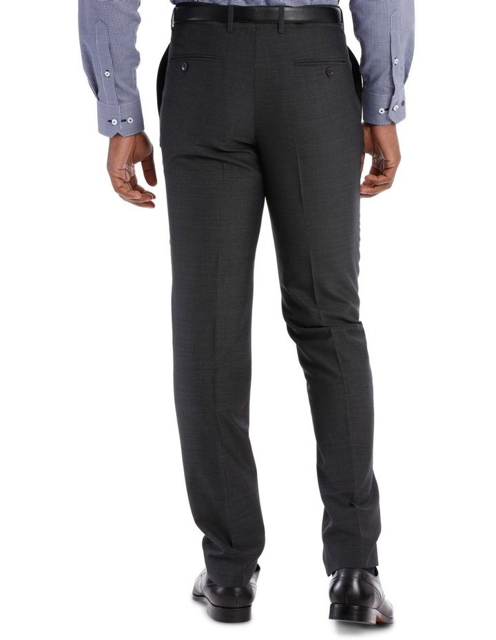 Tailored Fit Charcoal Fine Stripe image 3
