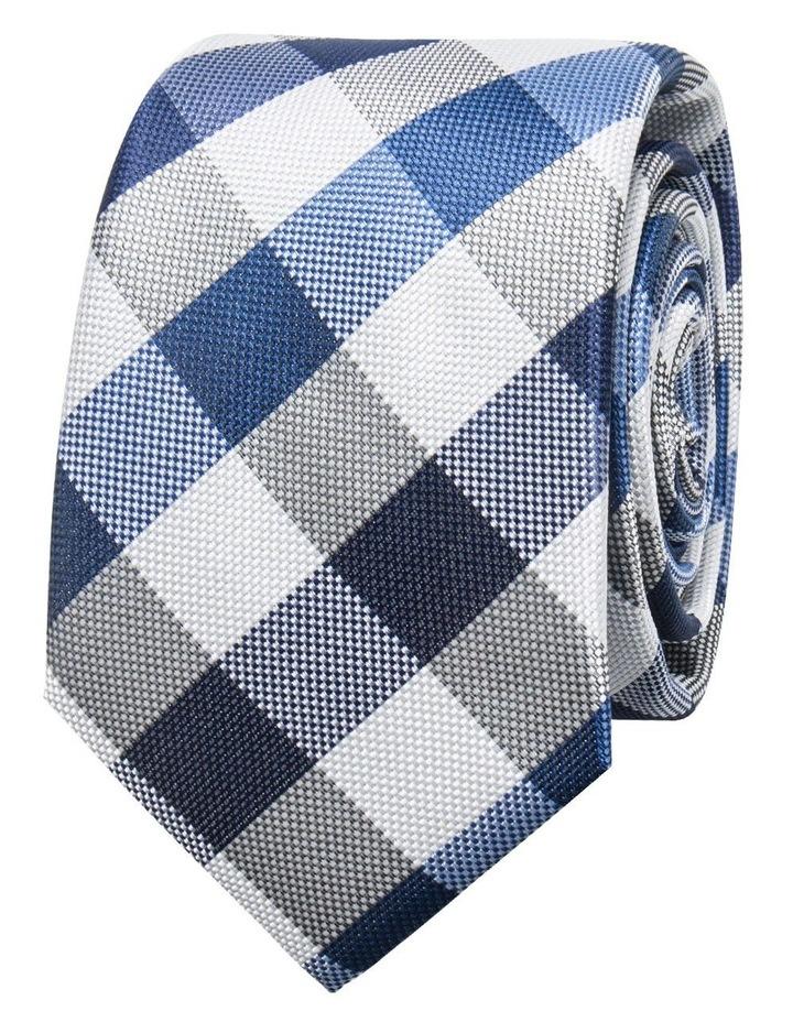 Large Check Blue Tie BLPTW18117 image 1
