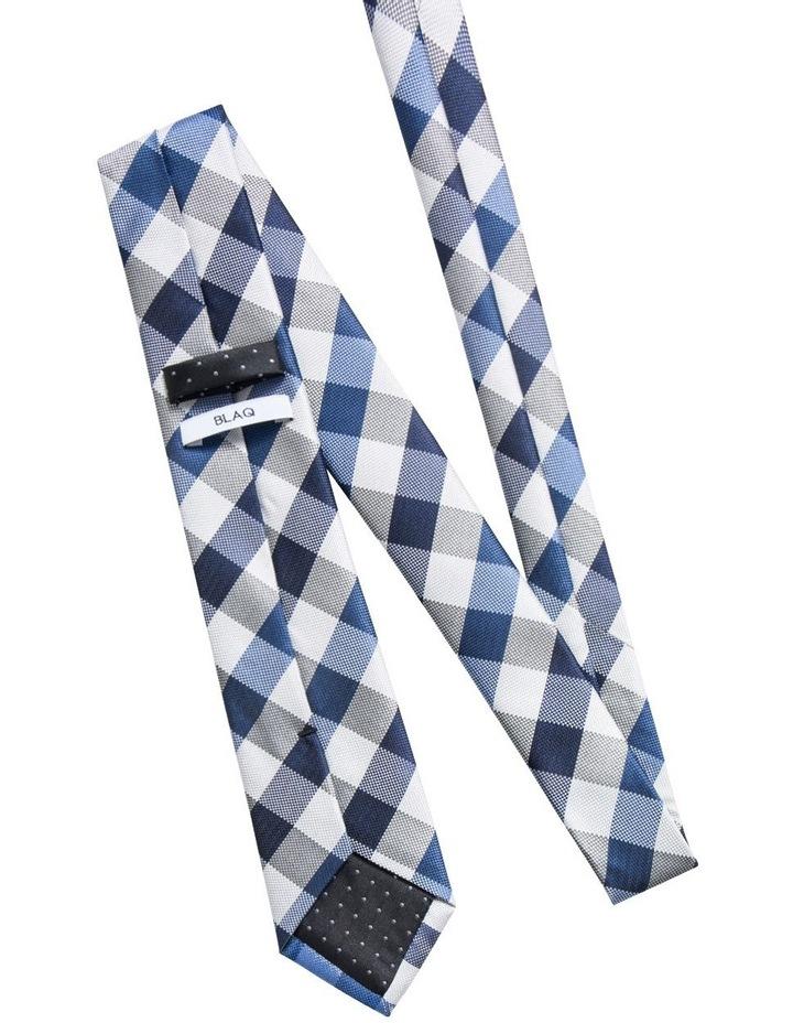 Large Check Blue Tie BLPTW18117 image 2