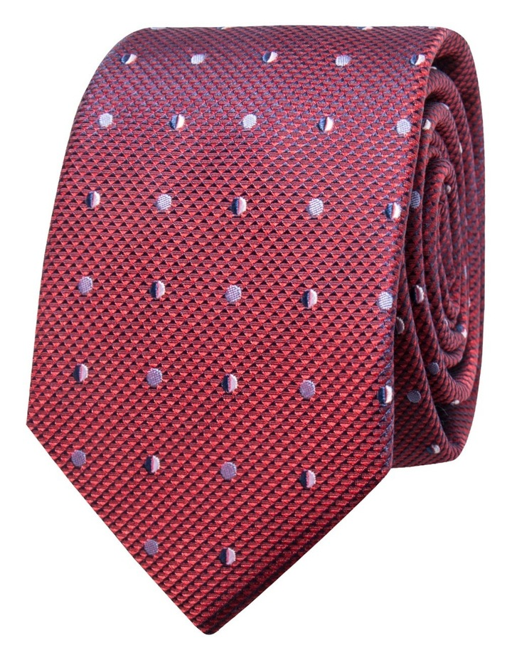 Geometric Red Tie BLSTW18117 image 1