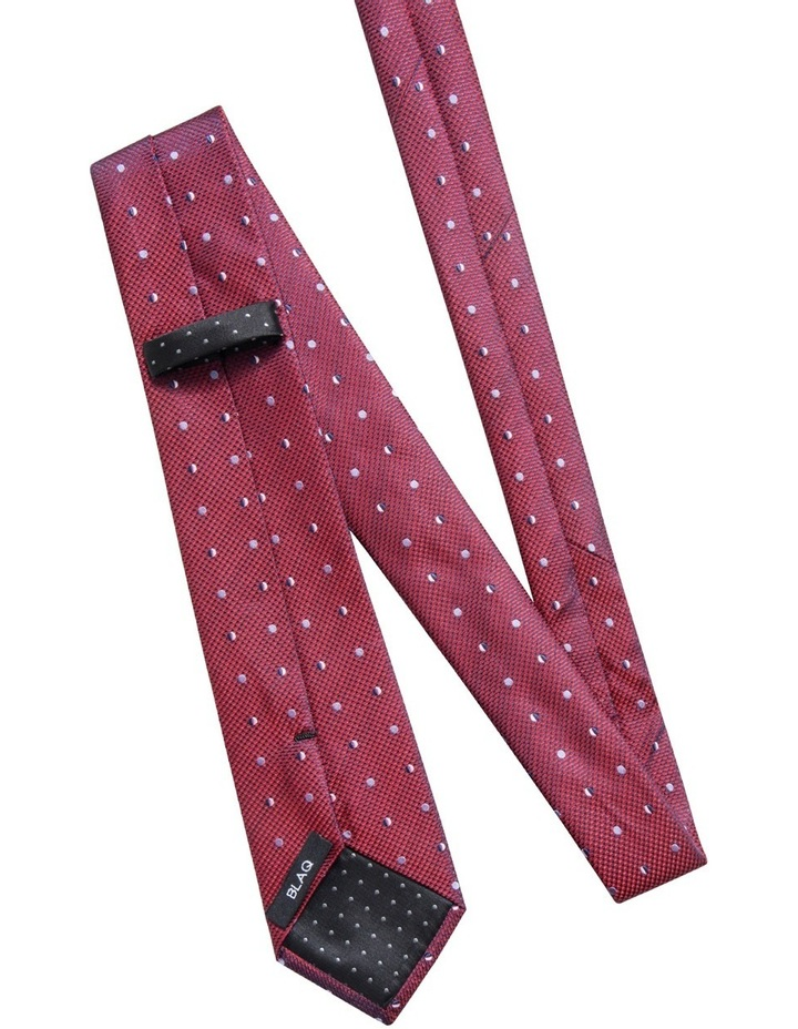 Geometric Red Tie BLSTW18117 image 2