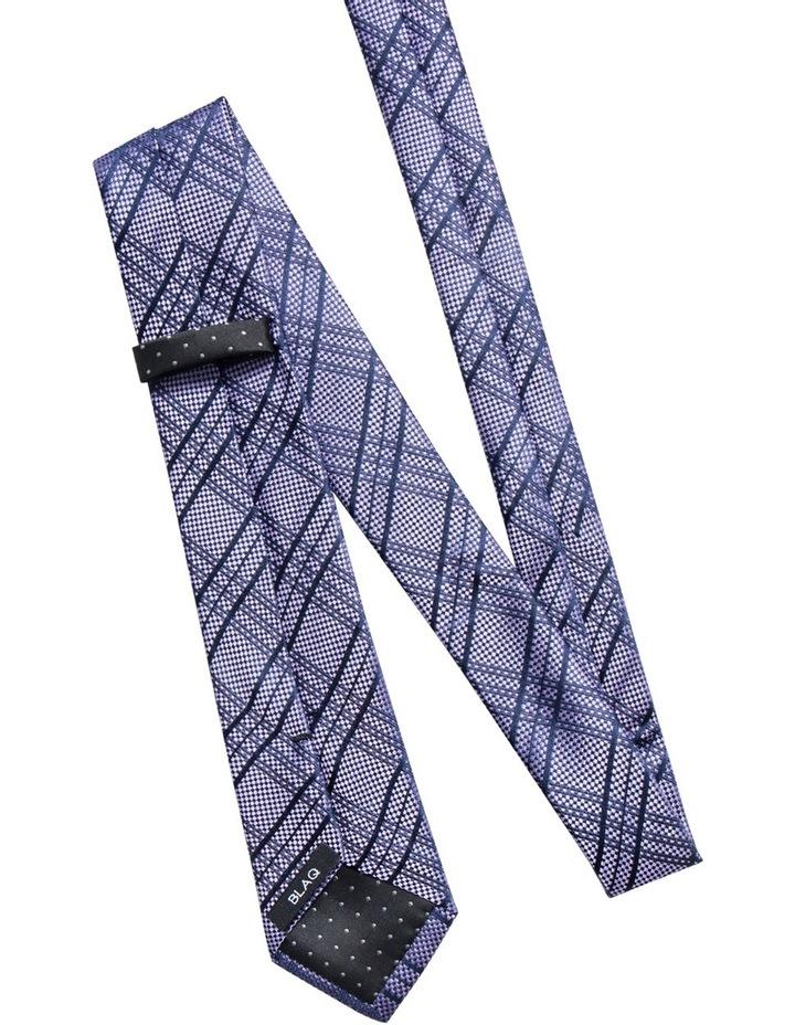 Check Purple Tie BLSTW18109 image 2