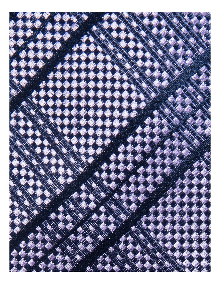 Check Purple Tie BLSTW18109 image 3
