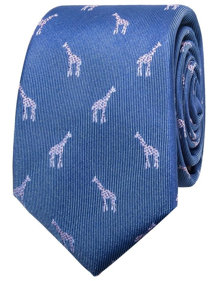 Giraffe Mid Blue Tie BLPTW18219 image 1