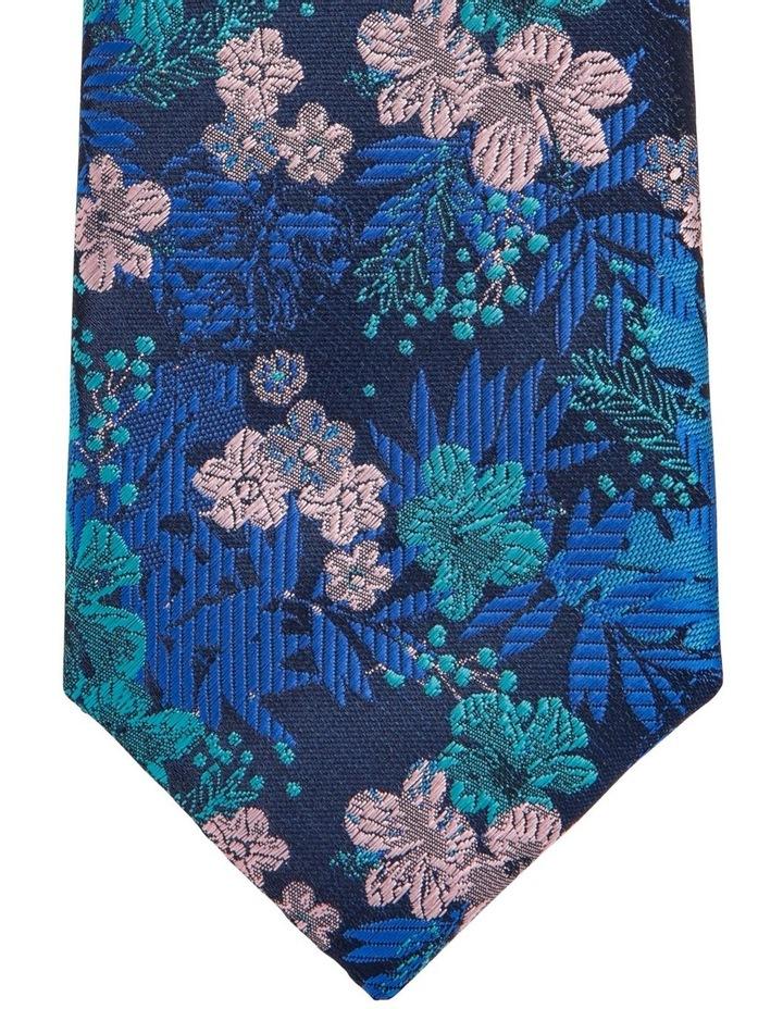 Floral Tie Teal image 2