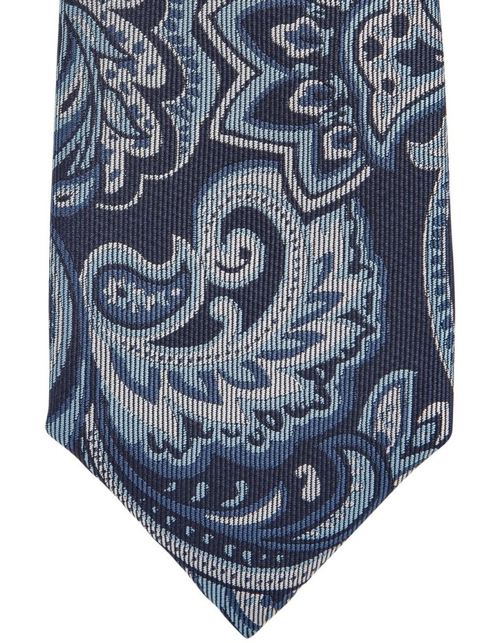 Large Paisley Tie Navy image 2