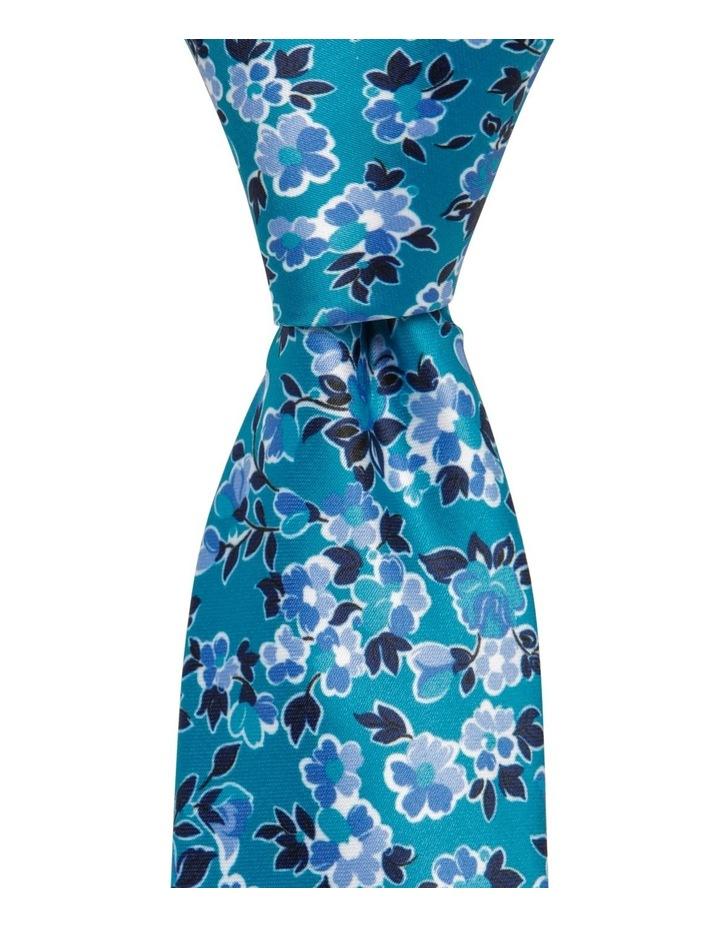 Floral Tie Teal image 1