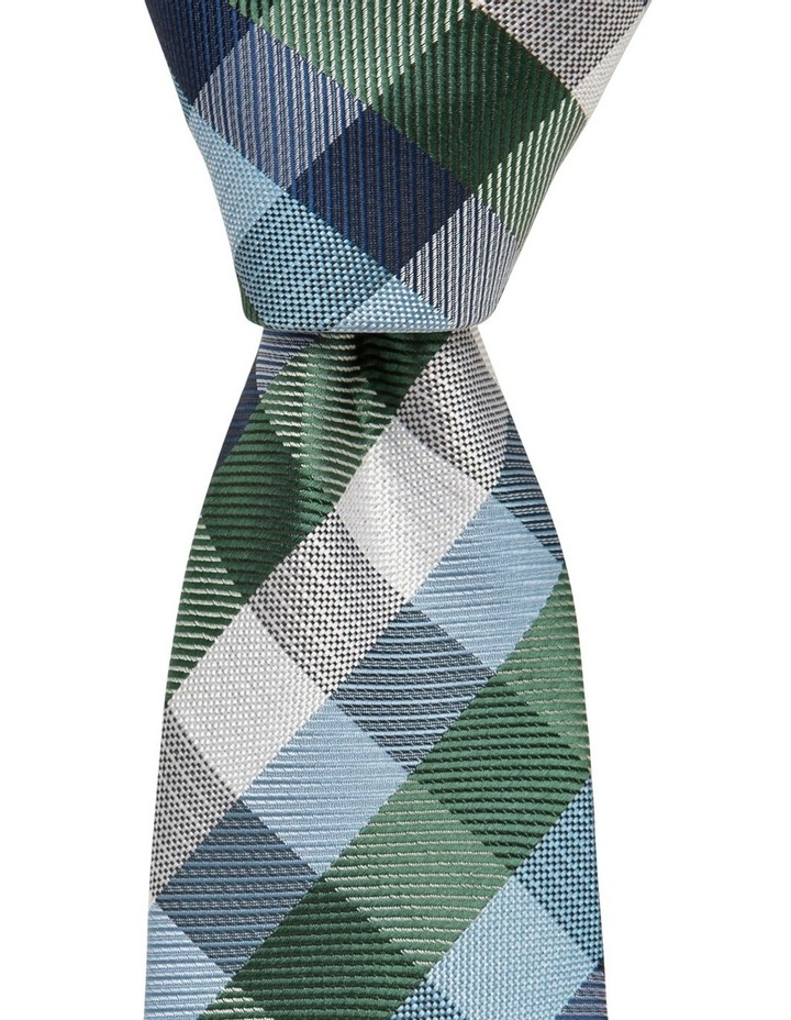 Check Tie Teal image 1