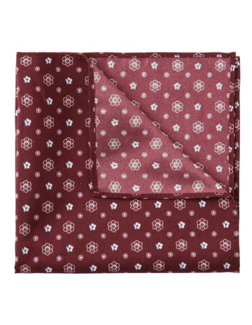 aa6cd730fab5e BlaqGeo Floral Pocket Square Burgundy. Blaq Geo Floral Pocket Square  Burgundy. price